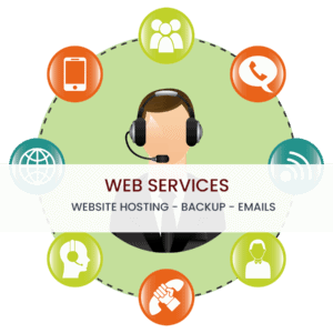 Hosting, daily backup and up to 5 email addresses of your website